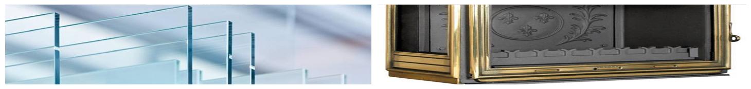 vitre d'insert cheminée